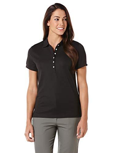 Callaway de Golf para Mujer Camiseta de Manga Corta Solid Polo Otomano - CGW435, XX-Large, Negro