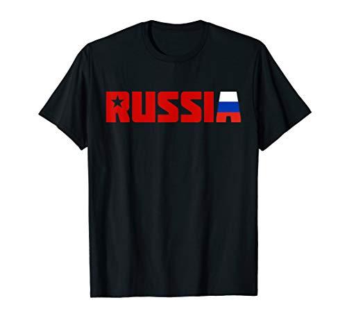 Russische Flagge | Klassische Russische Föderation Russland T-Shirt