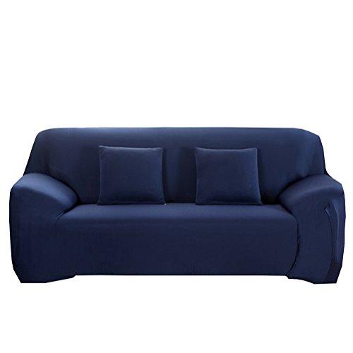 WINOMO Housse de canapé élastique 3places Bleu marine