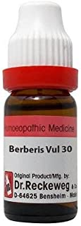 Dr. Reckeweg Berberis Vulgaris 30 CH (11ml- Pack Of 1 Bottle & (Free St. George's COF MIX - An Ideal Remedy for COUGH 1 pc...