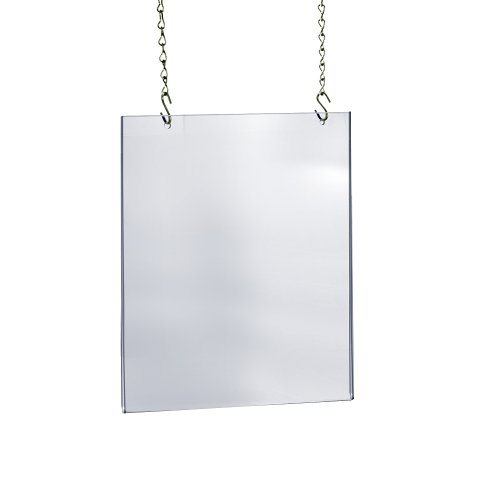 Azar Displays 172728 22-Inch W by 28-Inch H Hanging Poster Frame - Acrylic Sneeze Guard - Cashier Protector