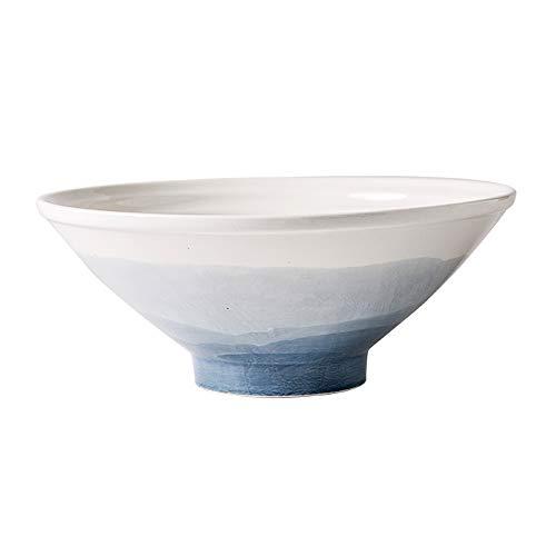 RKY Bol- Bol à soupe avec un bol de ramen, un grand bol à seau, un bol à salade, un bol à fruits - 2 couleurs, 2 tailles /-/ (Couleur : Gradient gray, taille : 25 * 9.9cm)