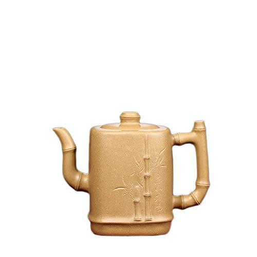 Tea Pot Yixing Teapot Yixing Teapot Tea Handmade Bamboo Segments Mud Teapot Oriental Purple Tea Maker Sand Pot (Color : Duan Mu)