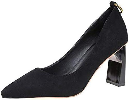 Yukun Schuhe mit hohen Absätzen Dicke Ferse Schuhe frühlingsmode zeigte zeigte zeigte Dicke Ferse Schuhe flachen Mund Nachtclub Frauen Schuhe einfache berufung  wunderschönen