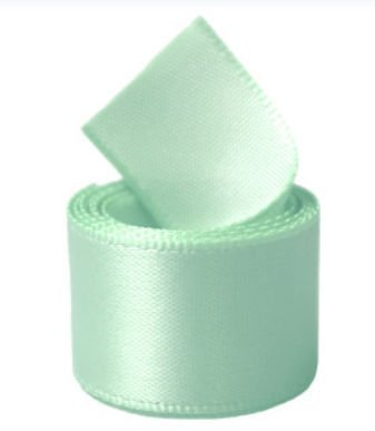 Papilion R07430538051350YD 1.5 in. Single-Face Satin Ribbon 50 Yards - Pastel Green by Papilion