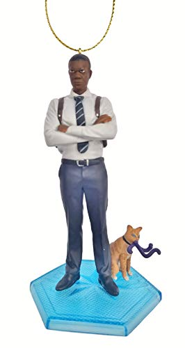 Nick Fury with Goose The Cat from Movie Captain Marvel Figurine Holiday Christmas Tree Ornament - Limited Availability - New for 2019