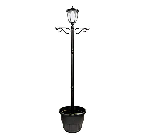 Nature Power 84in Tall Solar Powered LED Lamp Post with...