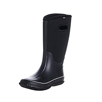WTW Men's Neoprene Rubber Rain Snow Boots Black