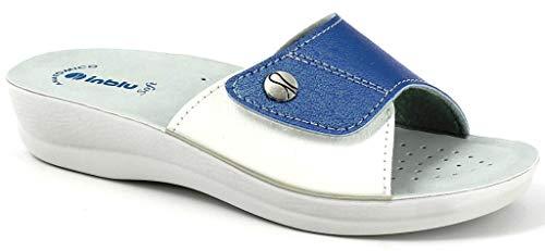 inblu Ciabatte, Pantofole Donna MOD. VR-45 Jeans Linea Benessere (36 EU)