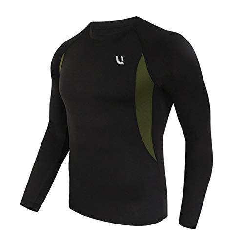 UNIQUEBELLA Thermounterwäsche Unterhemd, Funktions Herren Funktionswäsche Skiunterwäsche Winter Suit Ski Thermo-Unterwäsche Thermowäsche (Schwarz, M)