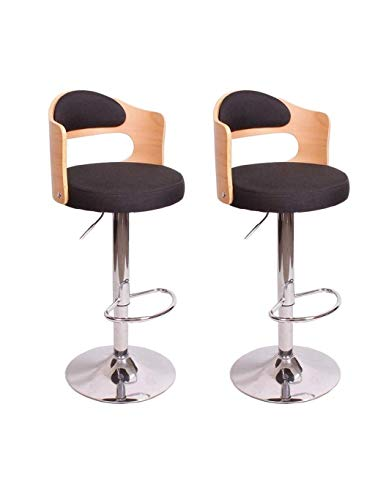 PIVFEDQX Stools Bar Stool Bar Chair Dining Chair High Ergonomics Lifting 360 Rotating Adjustable Loft High Chair Kitchen Home Breakfast Color Black