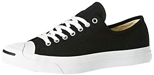 Converse Womens Jack Purcell Cp ox Canvas Low Top Lace Up, Black/White, Size 6.0