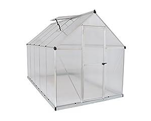 Palram HG5010 Mythos Hobby Greenhouse, 6' x 10' x 7', Silver