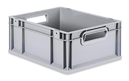 aidB Eurobox NextGen Grip, 400x300x170 mm, Griffe offen, robuste Plastikbox aus Kunststoff mit ergonomischen Griffen, stapelbare Kunststoffkiste, ideal für die Industrie, 1St.