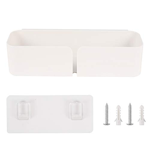 Pulluo Organizador de Cama para Almacenamiento Estante de Baño Autoadhesivo de Plástico para Cargar Teléfonos iPads Baterías