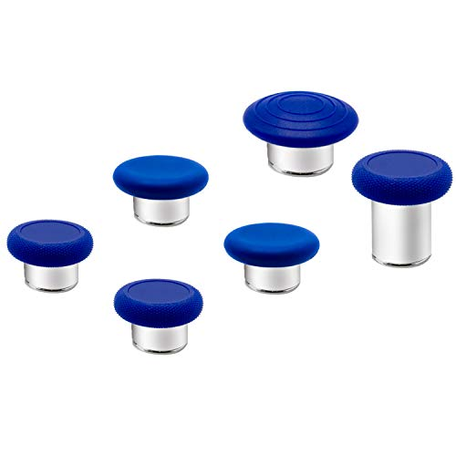 6 in 1 Metal Thumbsticks Grip Joysticks Replacement for Xbox One Elite Series 2 Controllers(1797) - Blue