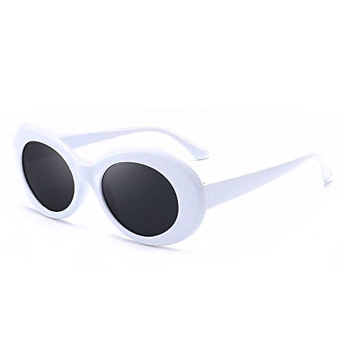Grunge Oval Shades 【White/Smoke】 Kurt model/グランジ オーバル サングラス [並行輸入品]