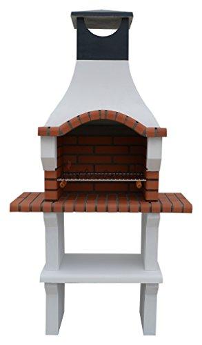 Veneto Masonry Charcoal Barbecue Grill H205cm x W105cm