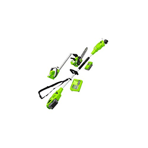 Zipper ZI-GPS40V-AKKU Gartenpflege-Set 40 Volt AKKU, 1030x265x270