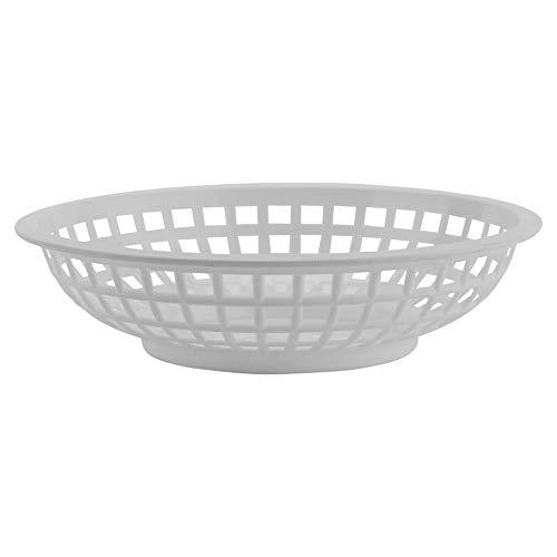 GET RB-820-W Round Serving / Bread Basket, 8', White (Set of 12)