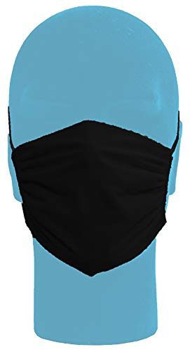 Italbaby Set da 3 Mascherine di Protezione Filtrante Lavabile per Adulti Nero - 50 g
