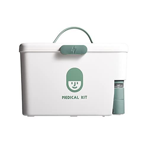 Kit de ayuda: caja de almacenamiento portátil para botiquines de primeros auxilios para el hogar, botiquín de emergencia de plástico para medicamentos con asa