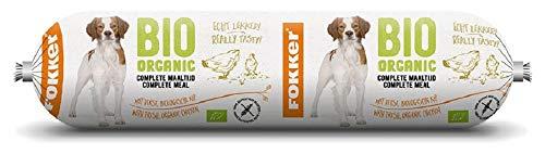 Fokker Bio hondenvoer Worst (Organic Dog Rolls), verpakking van 2 (2 x 800 grams)