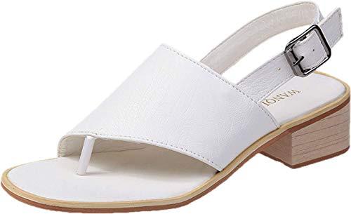 [ JUNAP ] 歩きやすい レディース カジュアル ファッションサンダル 38 白