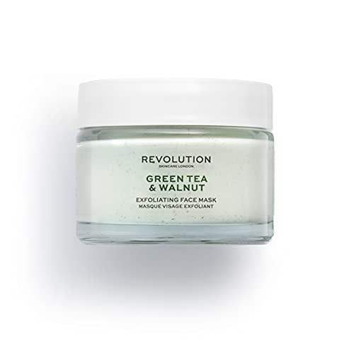 Revolution Skincare Skin Green Tea & Walnut Exf Gesichtsmaske, 50 ml