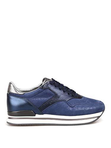 Hogan Luxury Fashion Damen HXW2220M469KHD0QFE Blau Leder Sneakers | Jahreszeit Outlet