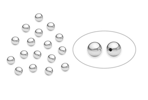homiki Lot de 100 Argent sterling 925 rond brillant Perles Intercalaires 3 mm