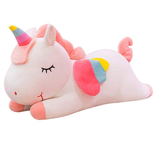 IMIKEYA Felpa Unicornio Juguete Color del Arco Iris Felpa Unicornio Almohada para bebés 1pcs