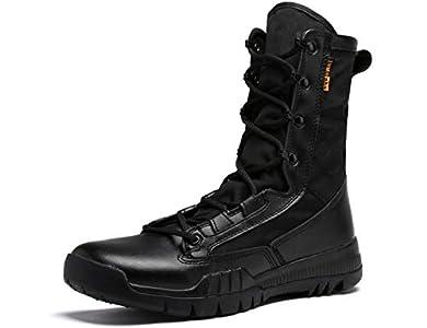 SINOES Botas Militares De Cordones con Cordones Botas Tácticas Especiales De Seguridad para Hombres Botas Tácticas De Policía para Escalar Zapatos De Escalada