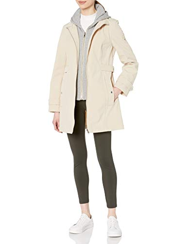 Tommy Hilfiger Damen Sporty and Classic Zip Front Hooded Soft Shell Rain Jacket Regenjacke, Chinese, X-Groß
