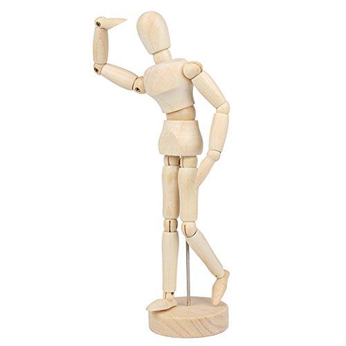 Larcele Maniquí de Humanos Madera Articulado Maniquíes Modelo de Dibujo mrmx-01 (22cm)
