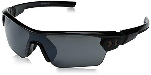 Under Armour Kid's Menace Wrap Sunglasses, Black / Gray Lens, 58 mm