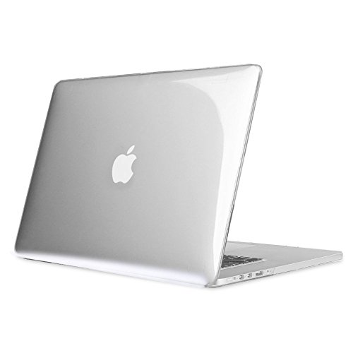 Fintie Case for MacBook Pro 15 Retina (NO CD-ROM Drive) - Slim Snap On Hard Shell Protective Cover for MacBook Pro 15.4' with Retina Display A1398, Crystal Clear