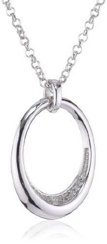 ESPRIT Jewels Damen-Halskette mit Anhänger Honesty 925 Sterling Silber ESNL92425A420