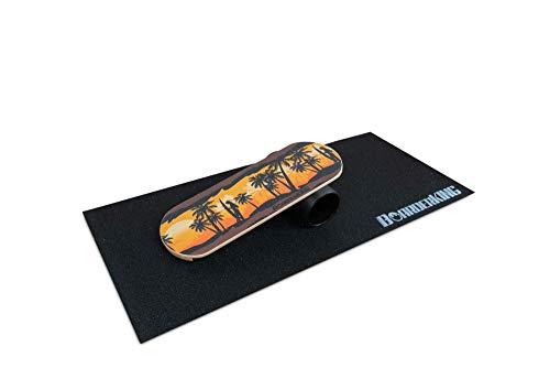 BoarderKING Indoorboard Hawaii Skateboard Surfboard Balanceboard - surfen im Wohnzimmer (XL)
