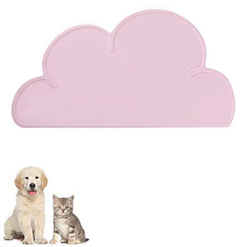 FANJIANG Tappetini Sottociotola per Cani/Gatti, Tappetino per Ciotola di Cibo Antiscivolo per Animali,Perfetto per Proteggere Il Pavimento da Liquidi (Rosa)