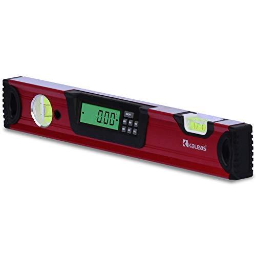 Kaleas Professional Digitale Wasserwaage 40cm, elektronischer Neigungsmesser, Präzisions Libellen 0.4mm/m, Hightech Sensor ±0,05°, Handgriff, Aluminium Profil, Schutz-Tasche (34181)