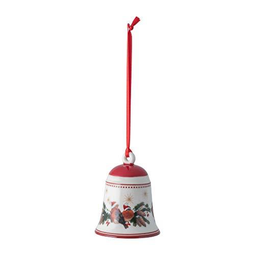 Villeroy & Boch - My Christmas Tree Glocke Waldtiere, stimmungsvolle Christbaumkugel aus Premium Porzellan, bunt