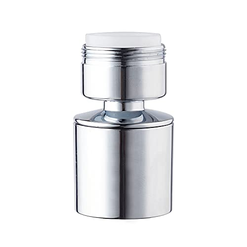 Waternymph Hibbent Dual-function 2-Flow Faucet Aerator, 360-Degree Swivel Aerator for Kitchen Sink Dual Spray, with Gasket Faucet Replacement Part - 15/16 Inch - 27UNS Male Thread - Chrome - Swivel