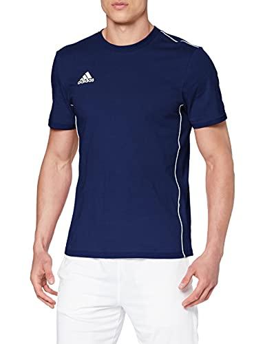 adidas Core 18 Ma, Maglietta Uomo, Blu (Dark Blue/White), XL