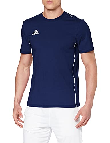 adidas Core 18 Ma, Maglietta Uomo, Blu (Dark Blue/White), 2XL