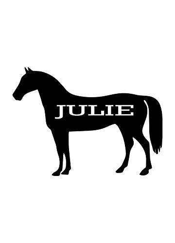 Custom Horse Name decal for yeti,rtic, ozark tumblers, laptops, car decals