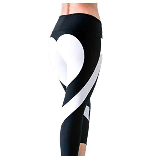 Fliegend Damen High Waist Leggings Push Up Yoga Hose Lange Sporthose Elastisch Jogginghose Frauen Leggins Herz Patchwork Fitnesshose...