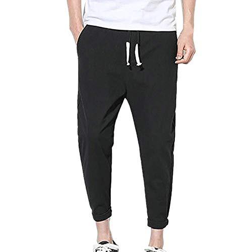 N\P Verano de los hombres de color sólido suelto casual pantalones vaqueros de los hombres rectos Slim Fit Denim Pantalones