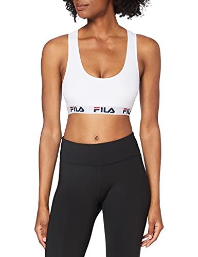 Fila 1-Pack Urban Bra Fu6042 Sujetador Deportivo, Blanco (White 300), Large (Tamaño del Fabricante:L) para Mujer