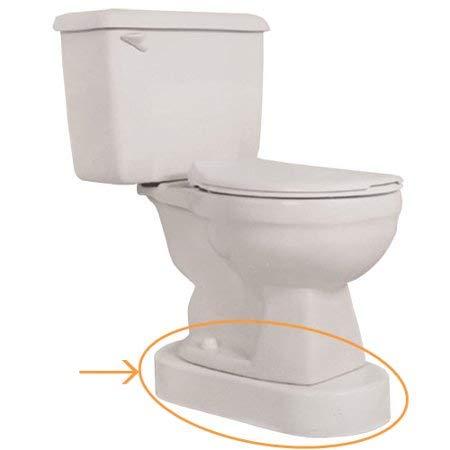 Toilevator Toilet Riser, 11-1/2'W x 23'L x 3-1/2'H, 500-lb Capacity, White -51105